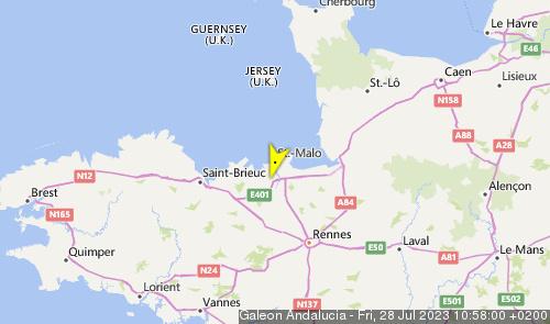 Letzte erfasste Schiffsposition der El Galeón