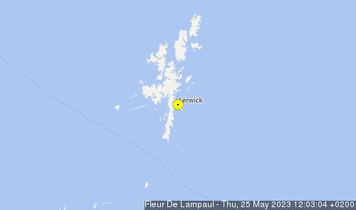 Last tracked position of the ship Fleur de Lampaul